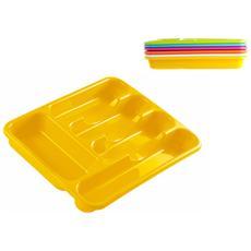 Portaposate 5ps Plastica Col / ass Organizzazione Della Cucina
