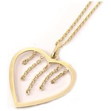 collana dell'oro 'love' placcato - [ l0355]