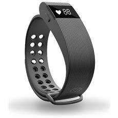 Bracciale Fitness Cardiofrequenzimetro Nero Con Bluetooth 4.0, Contapassi E Calorie