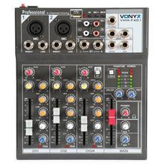 Mixer Dj Studio Karaoke Pianobar 4 Canali Professionale Mix Con Usb + Effetti
