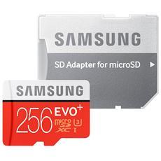 MicroSD EVO Plus 256 GB UHS-I 3 Classe 10 con Adattatore SD
