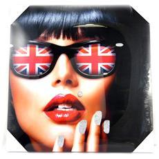 canvas 'so british' occhiali (40x40 cm) - [ m5305]