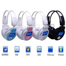 Cuffie Auricolare Mp3 Stereo Display Lcd Sd Radio Fm Tf Card Cuffie Con Sd