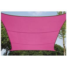 Quadrata vela solare rosa