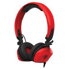 Cuffie per PC Connessione Cavo Rossa 180 cm