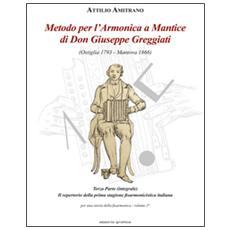 Metodo per l'armonica a mantice di don Giuseppe Greggiati (Ostiglia 1793-Mantova 1866) . Vol. 2