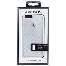 """Original Cover Custodia Ferrari Hardcover Custodia Fepehcp6si Perforated Aluminium Iphone 6 4""""7 Silver"""