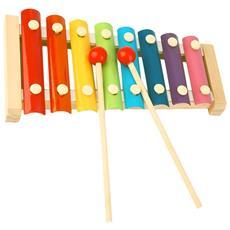 Strumento Musicale Xilofono Gioco Giocattolo Per Bambini In Legno A 8 Piastre