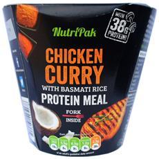 Pollo Al Curry Con Riso Basmati - Pasto Proteico 300 G -