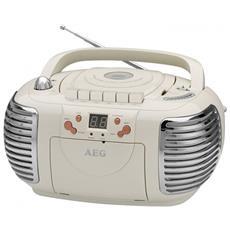 Nsr 4377retro Cassette Stereo Radio Con Cd / mp3 / usb Con Musicassette, Aux-in, Display Lcd, Crema