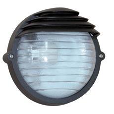 Plafoniera nero esterno vetro trasparente attacco a soffito o parete W 60