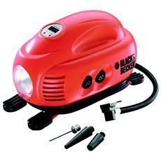 Compressore Portatile per Auto e Moto Nera e Rossa 12 V 8.3 Bar ASI200-XJ