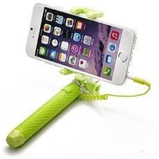 """Mini Selfie Stick compatibile con smartphone fino a 5.5"""" per una lunghezza massima di 70cm - Verde"""