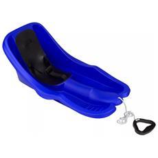 0297 Slitta Per Bambini In Plastica Blu Cobalto / Nero