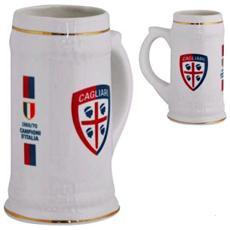 Boccale In Ceramica Cagliari Calcio Prodotto Ufficiale 04516