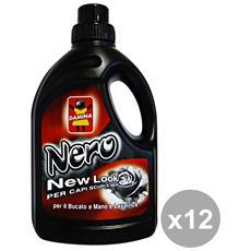 Set 12 Bucato Nero 1 Lt. Detergenti Casa
