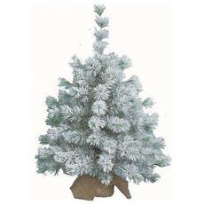 Pinetto Innevato 45cm Con Base In Juta Addobbi Natale Albero