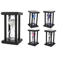 Clessidra Di Legno Nero Timer 10 Minuti A Sabbia Orologio Decorazioni Hourglass Contatore Di Tempo Regalo Colore Casuale