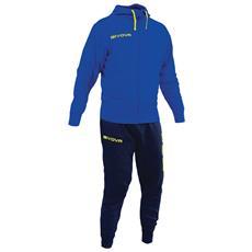 Tuta Poker Givova Completo Di Giacca Con Zip Manica Lunga E Pantalone Colore Azzurro / blu Taglia 2xl