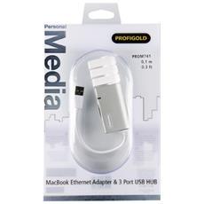 PROM741, Cablato, RJ-45, USB, 10/100BaseT (X) , IEEE 802.3, IEEE 802.3u, Bianco