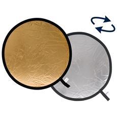 Pannello Circolare per Fotocamera Argento e Oro 75 cm LL LR3034