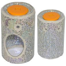 Bruciatore perlato cilindrico per cialde di cera Florever Fragrance