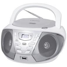 Stereo Portatile Trevi Cmp 558 Bt Con Cd, radio, usb, Aux In E Bluetooth Bianco