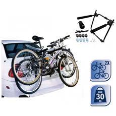 Portabicicletta Auto Supporto Per Trasporto 2 Bici Portata Da 30 Kg Per Portabagagli 72538
