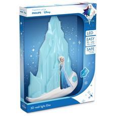 Lampada Da Parete Frozen In 3D, Batterie Incluse