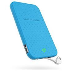 Extra Battery 2500, Polimeri di litio (LiPo), USB, Blu, Smartphone, Micro-USB, Overcharge, Cortocircuito