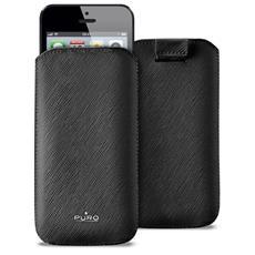 Custodia per iPhone 5 in ecopelle ''slim Essential'' - Nero