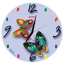 Orologio da parete in vetro Volare Blue colori e decori vari