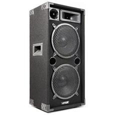 """Cassa Acustica 3 Vie 1000W Bass Reflex Con Doppio Woofer 26 Cm (10"""") Art. 170670"""