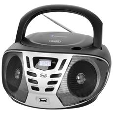 Stereo Portatile Boombox Cd Radio Usb Aux-in Bluetooth Trevi Cmp 558 Bt Nero