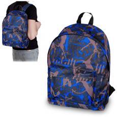 736224 Zaino A Spalla Carswo Camouflage Blu E Grigio Tessuto Impermeabile