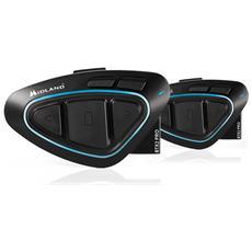 Kit 2 Dispositivi BTX2 Pro Bluetooth Radio FM Waterproof Colore Nero