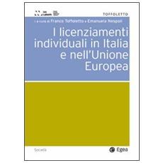 Licenziamenti individuali in Italia e nell'Unione Europea