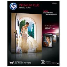 Carta Fotografica Lucida Premium Plus Confezione da 20 fogli 13 x 18 cm