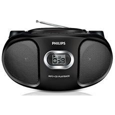 Stereo CD AZ305 con Radio e supporto MP3 ingresso Audio Colore Nero