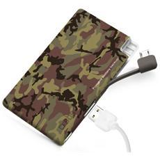 PowerBank Extraslim 2200 mAh USB 1A per smartphone e cellulari - Camou