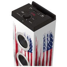 Speaker Audio TW7NY2 Potenza Totale 40W Bluetooth Colore Nero / Rosso / Bianco