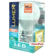 Lampada Led Sfera 5w E14 Luce Calda, Da Lumen