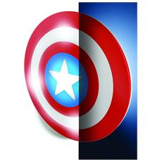 Lampada Da Parete Marvel Captain America In 3D, Batterie Incluse