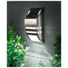 Lampada A Parete Con Pannello Solare Per Giardino Con Sensore Pir