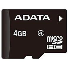 MicroSD da 4 GB Velocità di Classe 4 MB / s + Adattore SD