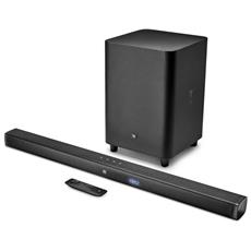 Soundbar JBLBAR31BLKEP Bar 3.1 Con cavo e senza cavo 3.1canali 450W Nero altoparlante soundbar