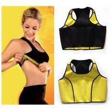 Top Donna Hot Taglia M Canotta Shapers Fascia Instant Training Maglia Dimagrante Palestra Sauna Suda Fitness