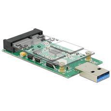 ICC IO-USB3-MSATA - Scheda Convertitore USB 3.0 Maschio a mSATA Full Size