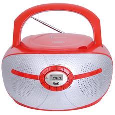 Stereo Portatile Cd Mp3 Bluetooth Cmp 552 Bt Rosso