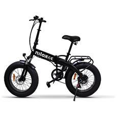 Bicicletta Elettrica E-bike X4 a Pedalata Assistita Ruote 20'' Colore Nero